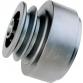 Poulie d'embrayage centrifuge Ø 77 mm. Double gorge A
