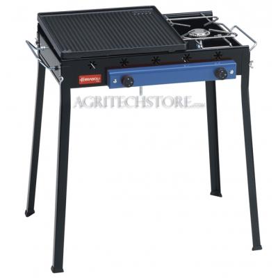 Barbecue Ferraboli Ghisa combinée gaz Art.092