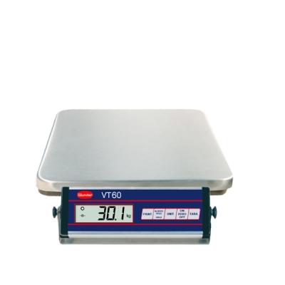Balance VT60 inoxydable en acier inoxydable - Capacité 60 kg.