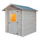 Maison en bois cm. 200x200 verrouillage Mod. Pistache