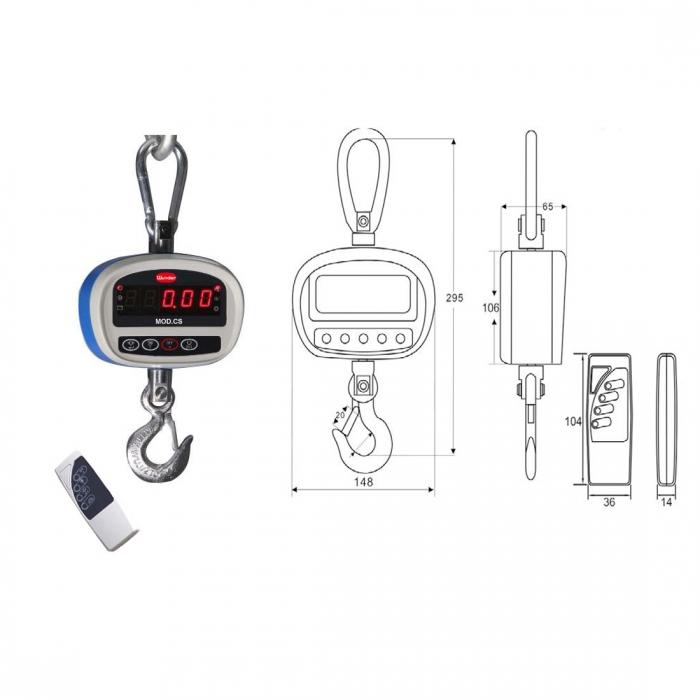 Multifonctions dynamomètre électronique kg.150 CS150 Capacité
