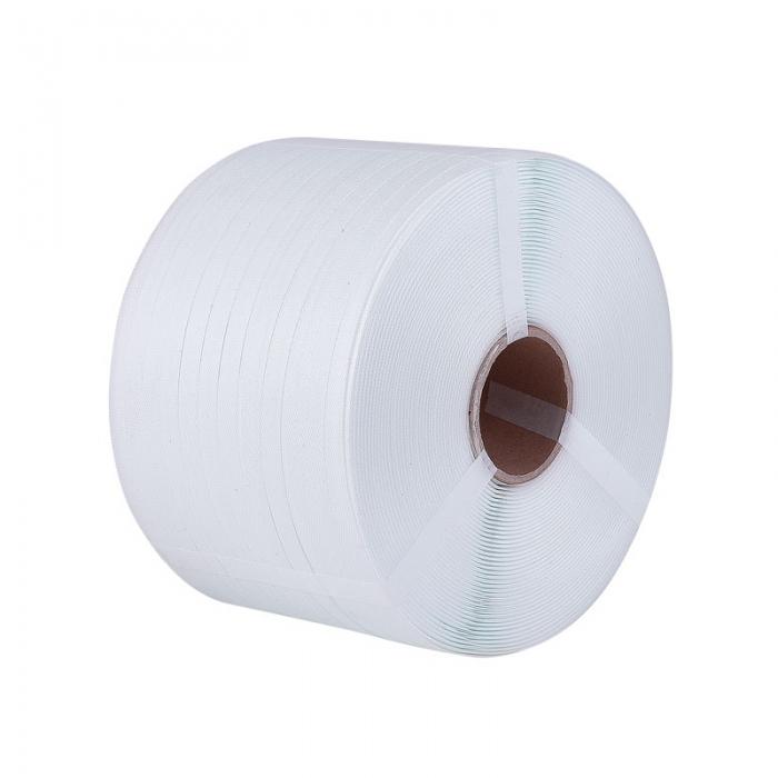 Sangles de polypropylène PP Couleur Blanc mm. 12x0,65 mt. 2,750
