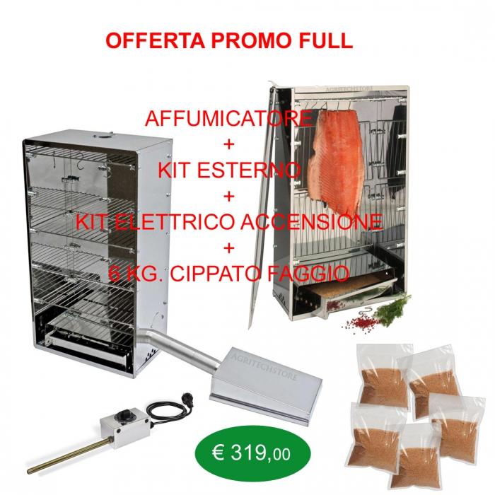 kit fumeur extérieur offre complète, des kits de démarrage et 6 Kg.Cippato