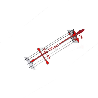 Sunburst Rotisserie satellite 4 Lance 100 cm. 0546B + Auction