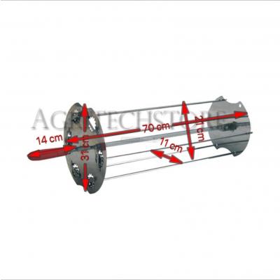 Sunburst Rotisserie satellite 70 cm. 0531 + Auction